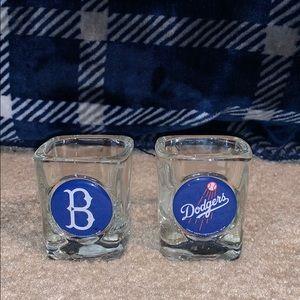 2 Dodgers shot glasses
